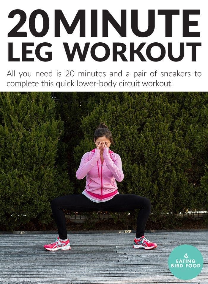 20 Minute Leg Workout (no equipment required)